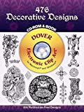 John Leighton: 476 Decorative Designs (Dover Electronic Clip Art) (CD-ROM and Book)
