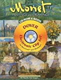 Claude Monet: Monet Paintings and Drawings CD-ROM and Book (Dover Electronic Clip Art)