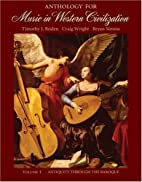 Anthology for Music in Western Civilization,…