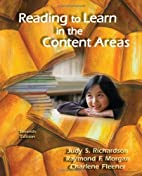 Reading to Learn in the Content Areas by…