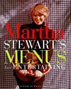 MENUs for Entertaining by Martha Stewart