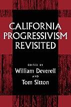 California Progressivism Revisited by…
