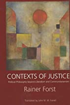 Contexts of Justice: Political Philosophy…