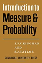 Introduction to Measure and Probability by…