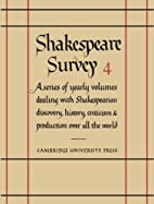 Shakespeare Survey 4: Interpretation by…