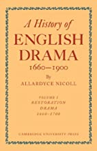 A history of English drama, 1660-1900 by…