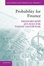 Probability for finance by P. E. Kopp