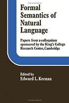 Formal Semantics of Natural Language by…