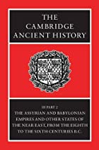 The Cambridge Ancient History, Volume 3,…
