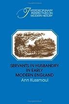 Servants in Husbandry in Early Modern…