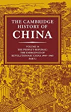 The Cambridge History of China, Vol. 14: The…