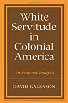 White Servitude in Colonial America: An…
