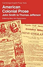 American Colonial Prose: John Smith to…