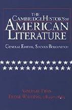 The Cambridge History of American Literature…