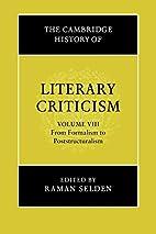 The Cambridge History of Literary Criticism,…