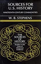 Sources for U.S. History: Nineteenth-Century…