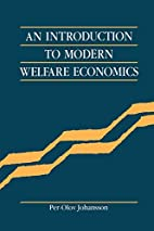 An Introduction to Modern Welfare Economics…