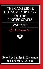 The Cambridge Economic History of the United…