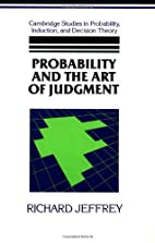 Probability and the Art of Judgment…