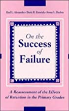 On the Success of Failure by Karl L.…