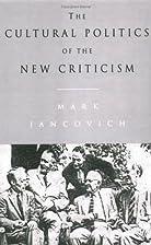 The Cultural Politics of the New Criticism…
