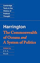 The Commonwealth of Oceana / A System of…