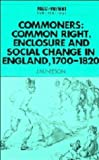Neeson, J. M.: Commoners: Common Right, Enclosure and Social Change in Common-Field England, 1700-1820