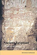 Ancient Egyptian: A Linguistic Introduction…