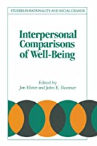 Interpersonal Comparisons of Well-Being by…