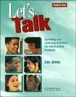 Jones, Leo: Let's Talk Student's book: Speaking and Listening Activities for Intermediate Students