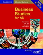 Business Studies for AS OCR by Peter…