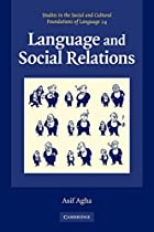 Language and Social Relations (Studies in…
