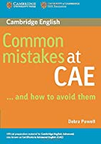 Common Mistakes at CAE...and How to Avoid…