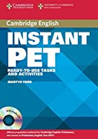 Instant PET Book and Audio CD Pack:…
