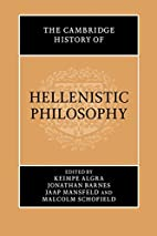 The Cambridge History of Hellenistic…