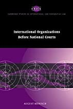 International Organizations before National…