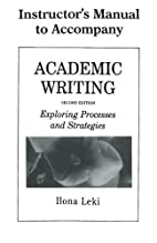 Academic Writing Instructor's Manual:…