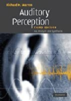 Auditory perception : an analysis and…