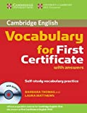 Thomas, Barbara: Cambridge Vocabulary for First Certificate with Answers and Audio CD