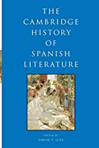The Cambridge History of Spanish Literature…