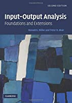 Input-Output Analysis: Foundations and…