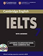 Cambridge IELTS 7 Self-study Pack (Student's…