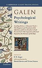 Galen: Psychological Writings: Avoiding…