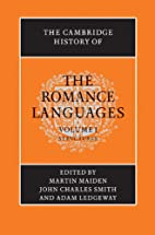 The Cambridge History of the Romance…
