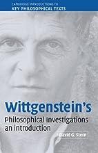 Wittgenstein's Philosophical Investigations:…