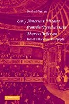 Early American Theatre from the Revolution…
