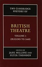 The Cambridge History of British Theatre 3…