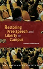 Restoring Free Speech and Liberty on Campus…