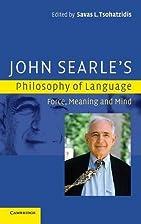 John Searle's Philosophy of Language:…