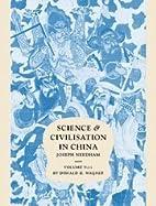 Science and Civilisation in China Volume V:…